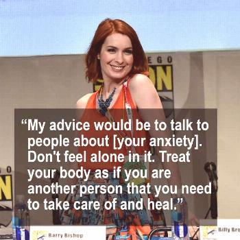 Felicia Day talked to Forbes about dealing with anxiety and ending stigma.