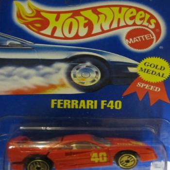 Ferrari F40 Hot Wheels 1994 Gold Medal Speed #69 Red with