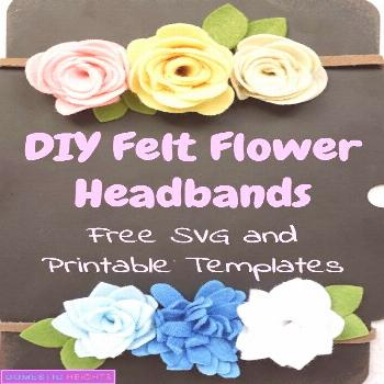 How to Make Felt Flowers - DOMESTIC HEIGHTS how to make felt flowers no sew, felt flower diy, diy f