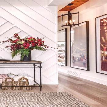 Maxwell Modern Farmhouse Home home entryway, dramatic home foyer, dramatic front entrance, dramatic