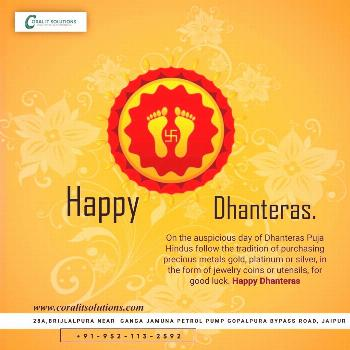 """""""May the festival of Dhanteras brighten your life with eternal happiness, wealth and prosperity.."""