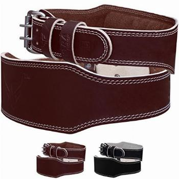 Mytra Fusion 4 inch Leather Weight Lifting Belt courted
