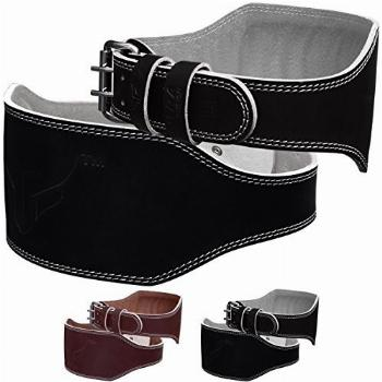Mytra Fusion 6 inch Leather Weight Lifting Belt courted
