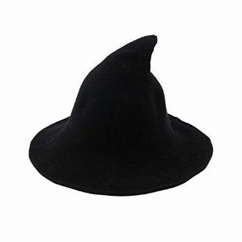 Womens Witch Kinitted-Wool Hats,For Halloween Party