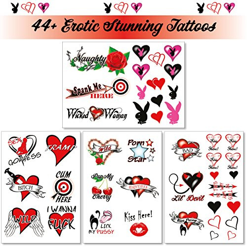 44+ Sexy Naughty Temporary Tattoos for Women Ladies- Adult