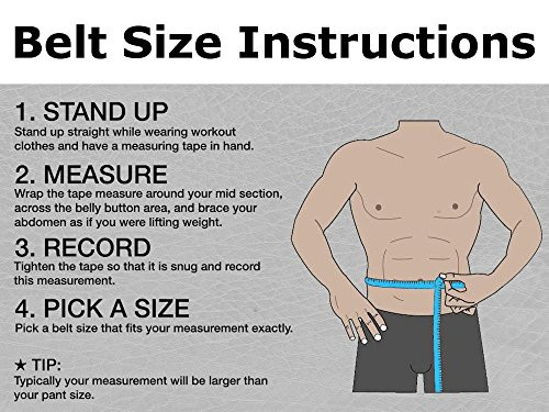 Aesthreadics Leather Weight Lifting Belt for Men and Women
