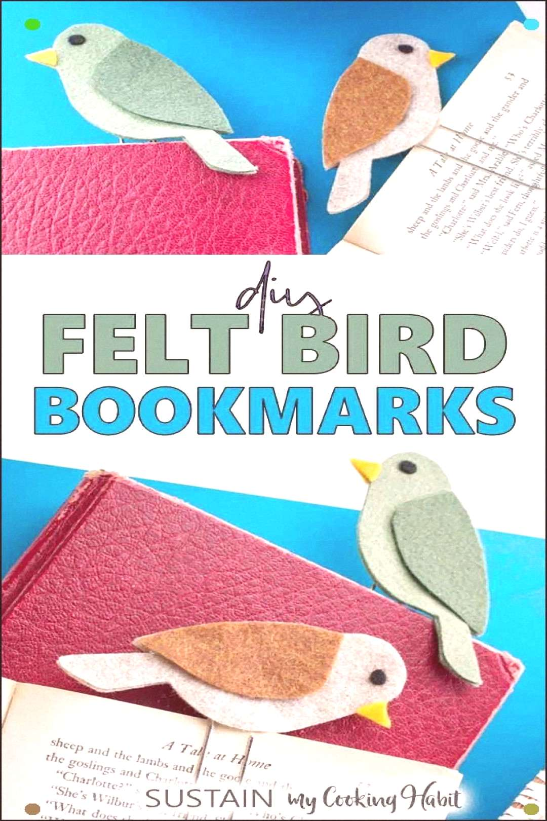 Mark Your Page With These Easy To Make Diy Felt Bird Bookmarks. Extraordinary Way To Use Up Leftove
