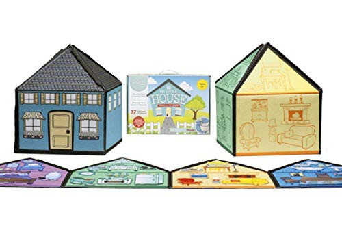 My Little House Interactive 1.25 Ft Tall Felt Playhouse and